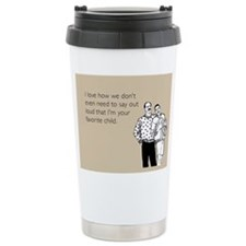 Fathers Favorite Child Stainless Steel Travel Mug