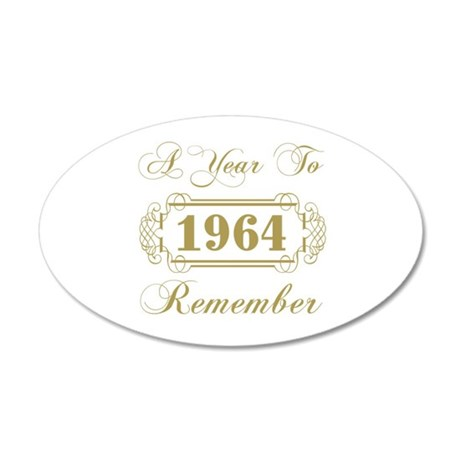 1964 A Year To Remember 20x12 Oval Wall Decal