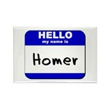 hello my name is homer Rectangle Magnet