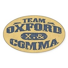 Team Oxford Comma Bumper Stickers