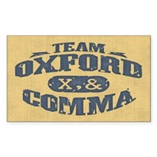 Team Oxford Comma Decal