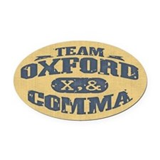 Team Oxford Comma Oval Car Magnet
