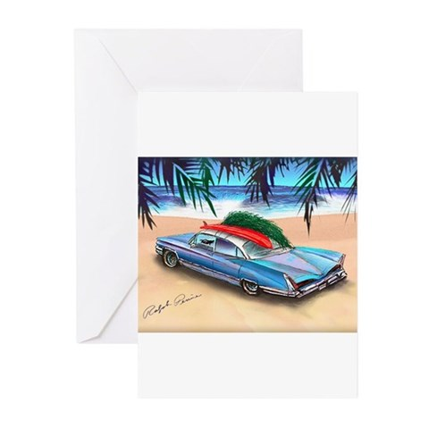Christmas Surf Car Greeting Cards (Pk of 10)