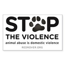 STOP THE VIOLENCE: animal abus Decal