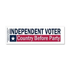 Independent Voter Blue Red Car Magnet 10 x 3