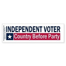 Independent Voter Blue Red Bumper Sticker