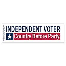 Independent Voter Blue Red Car Sticker