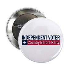 "Independent Voter Blue Red 2.25"" Button (10 pack)"