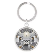 Viking Warrior Skull Keychains