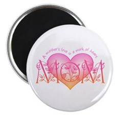 Work Of Heart Mom Magnet