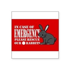 Rabbit Rescue Rectangle Sticker
