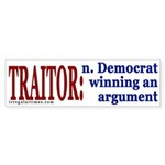 Definition of Traitor (bumper sticker)