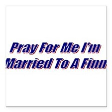 "Unique Pray for me Square Car Magnet 3"" x 3"""
