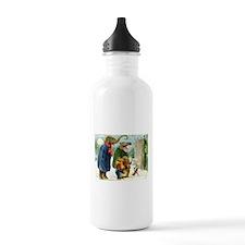 Christmas Caroling in Animal Land Water Bottle