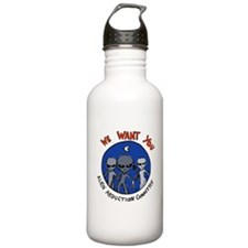We Want You Alien Abduction Committee Water Bottle