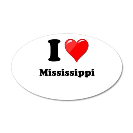 I Love Mississippi Wall Decal
