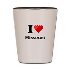 I Love Missouri Shot Glass