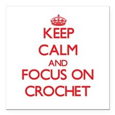 Keep calm and focus on Crochet Square Car Magnet 3
