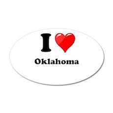 I Love Oklahoma Wall Decal