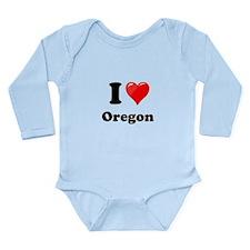 I Love Oregon Body Suit
