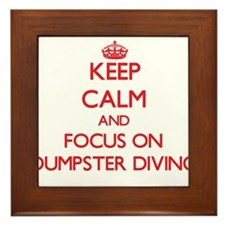 Keep calm and focus on Dumpster Diving Framed Tile