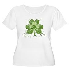 Swirly Shamrock Plus Size T-Shirt