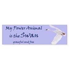 Power Animal (swan) Bumper Bumper Sticker
