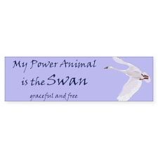 Power Animal (swan) Bumper Car Sticker
