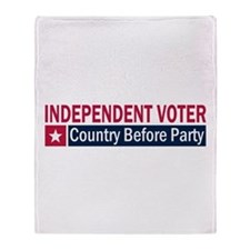 Independent Voter Red Blue Throw Blanket