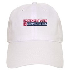 Independent Voter Red Blue Baseball Cap