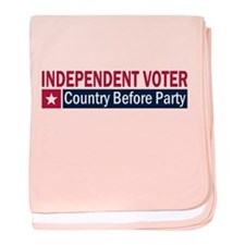 Independent Voter Red Blue baby blanket
