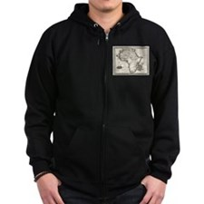 1799 Antique Map Zip Hoodie