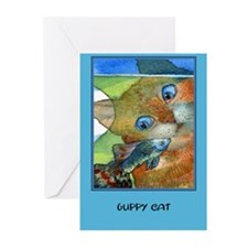 Guppy CAT Greeting Cards (Pk of 10)
