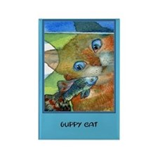 Guppy CAT Rectangle Magnet