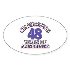Celebrating 48 years of awesomeness Decal