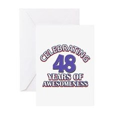 Celebrating 48 years of awesomeness Greeting Card