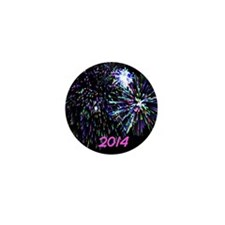 firework 2014 pink Mini Button (10 pack)
