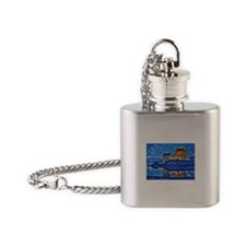 Castle at Christmas Flask Necklace