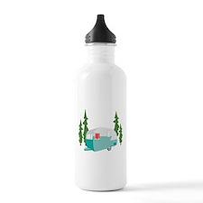Camper Scene Water Bottle