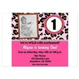 Cheetah invitations 5 x 7 Flat Cards