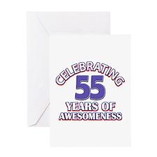 Celebrating 55 years of awesomeness Greeting Card