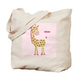 Pink giraffe tote bag Canvas Totes