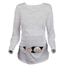 Long Sleeve Maternity T-Shirt Jumeaux Twins