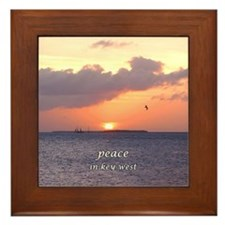 peace in key west Framed Tile