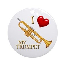 I Love My TRUMPET Ornament (Round)