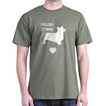 welsh corgi heart Dark T-Shirt