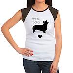 welsh corgi heart Women's Cap Sleeve T-Shirt