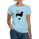 welsh corgi heart Women's Light T-Shirt