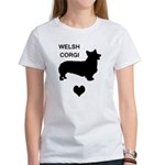 welsh corgi heart Women's T-Shirt