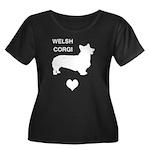 welsh corgi heart Women's Plus Size Scoop Neck Dar
